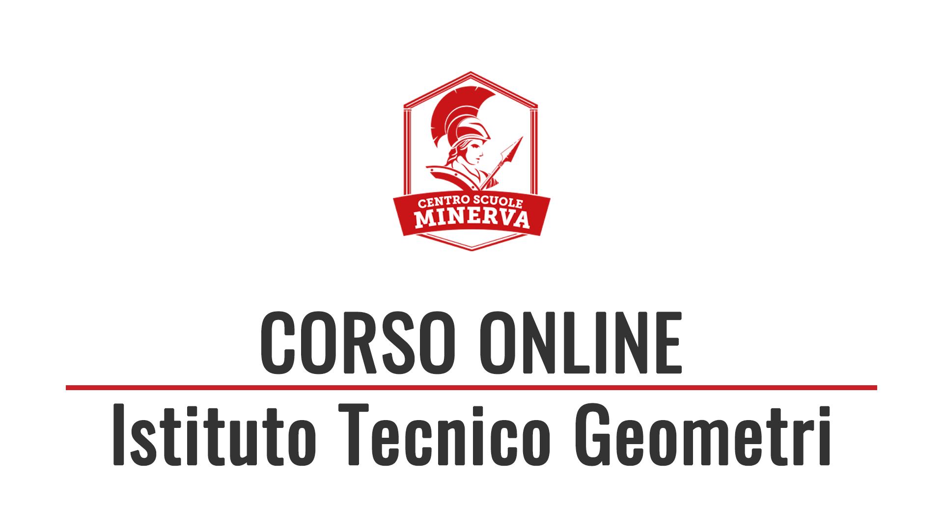 Corso Online Istituto Tecnico Geometri