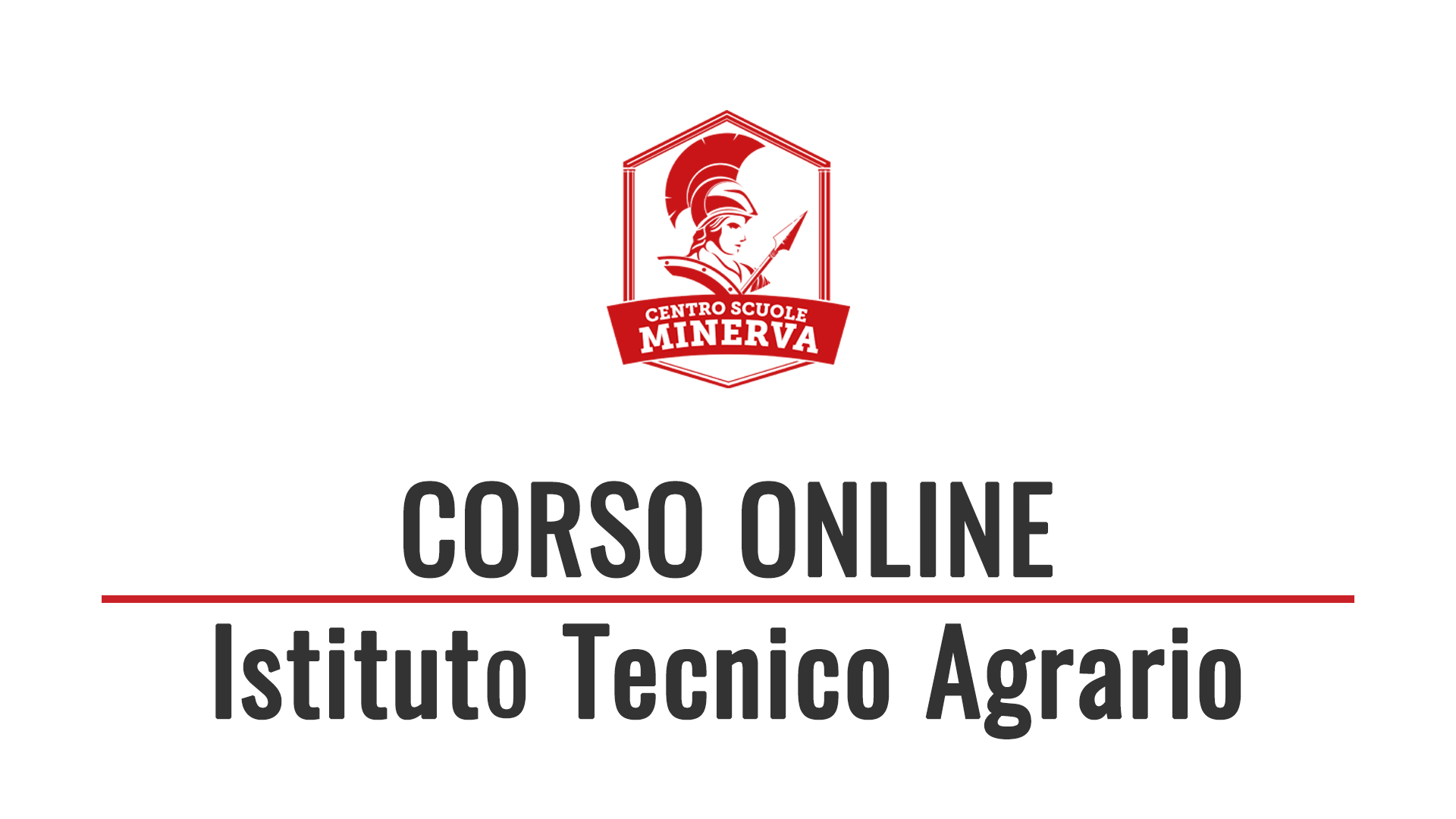 Corso Online Istituto Tecnico Agraria